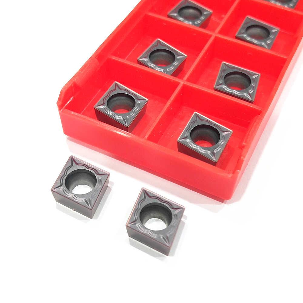 10pcs CCMT09T304 TM HP1125 Strumento Tornitura Interna CCMT 09T304 Inserti In Metallo Duro per cnc Tornio Taglierina Strumento di Tornitura Utensili Da Taglio