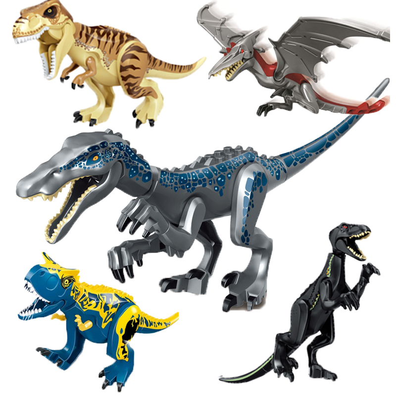 Jurassic World 2 Brutal Raptor Building Blocks Legoing Dinosaur Model Bricks Tyrannosaurus Indominus I-Rex Assemble Toy