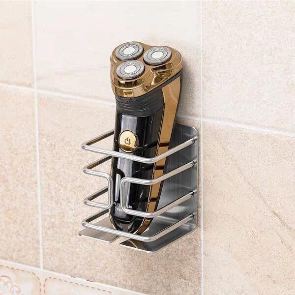 Bathroom  Stainless Steel Shaver Holders Electric Razor Holder Self Adhesive Storage Rack Bathroom Accessories