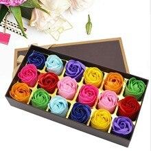 Подарочные коробки для девочек с розовыми цветами, 18 видов мыла для ванны с лепестками роз, для душа, декор для цветов, романтический подарок...