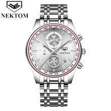 New Business Watch Male Clock Retro Design Steel Band Relogio Alloy Quartz Wristwatch luxury Men's Watches Saat Classic Clock