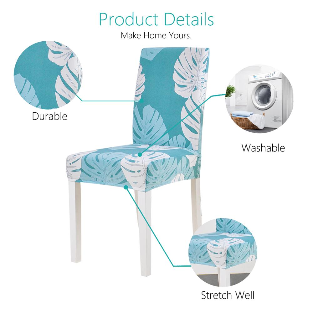 Leaves Print Blue Turquoise Spandex Chair Covers 10 Chair And Sofa Covers
