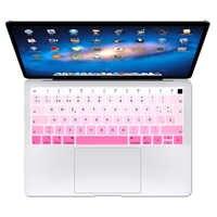 50 Film protecteur de clavier de Silicone espagnol d'arc-en-ciel pour MacBook Air 13 A1932 avec la libération 2018 d'empreinte digitale d'identification de contact