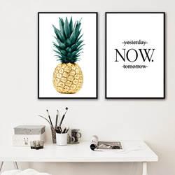 Североевропейский стиль гостиная декоративная живопись для комнаты обустройство дома отель простой вход вешается на стену Золотой ананас