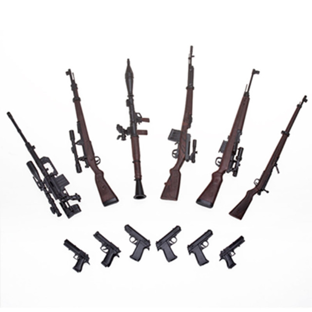 "6pcs/set 1:6 Scale 1/6 12"" Action Figures Gun Models Weapon Toys G43 Sinper Rifle Tactical Gun For 1/100 MG Bandai Gundam Models"