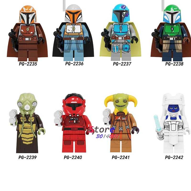 Satu Starwars Darth Vader R2-D2 Mandalorians Bai Li Ella Secura Yoda Gelap Rey Robot Blok Bangunan Model Batu Bata Mainan