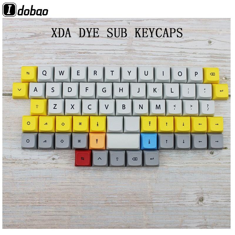 כיריים שניי להבות IDOBAO 40 מקלדת מכנית Xda keycaps בפרופיל דיי תת PBT 64 מקשים במקלדת גיימר ערכת מקלדת שרי Mx מיני 60% (1)