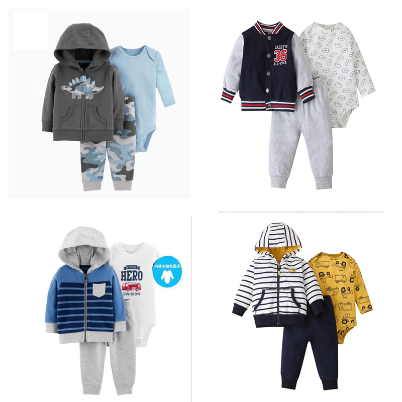 baby boy set long sleeve letter jacket+romper+pant newborn baby girl clothing 2020 fall winter outfit unisex new born clothes