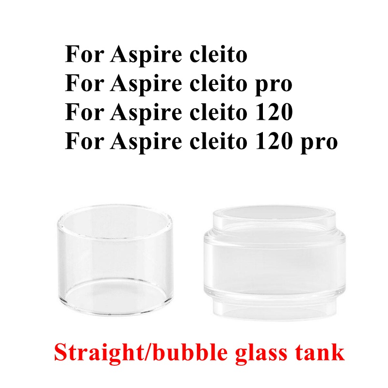 4/1pcs Pack Hongxingjia Original Pyrex Glass Tube For Aspire Cleito 120 Pro Tank RTA Atomizer Replacement Glass