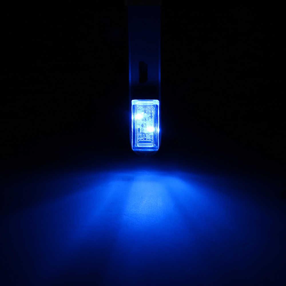 1 個ホワイト Usb 車のライト LED 車の雰囲気ライト 12 12v インテリア装飾 Bmw e60 スバルボルボ s60 パサート b5.5 b6