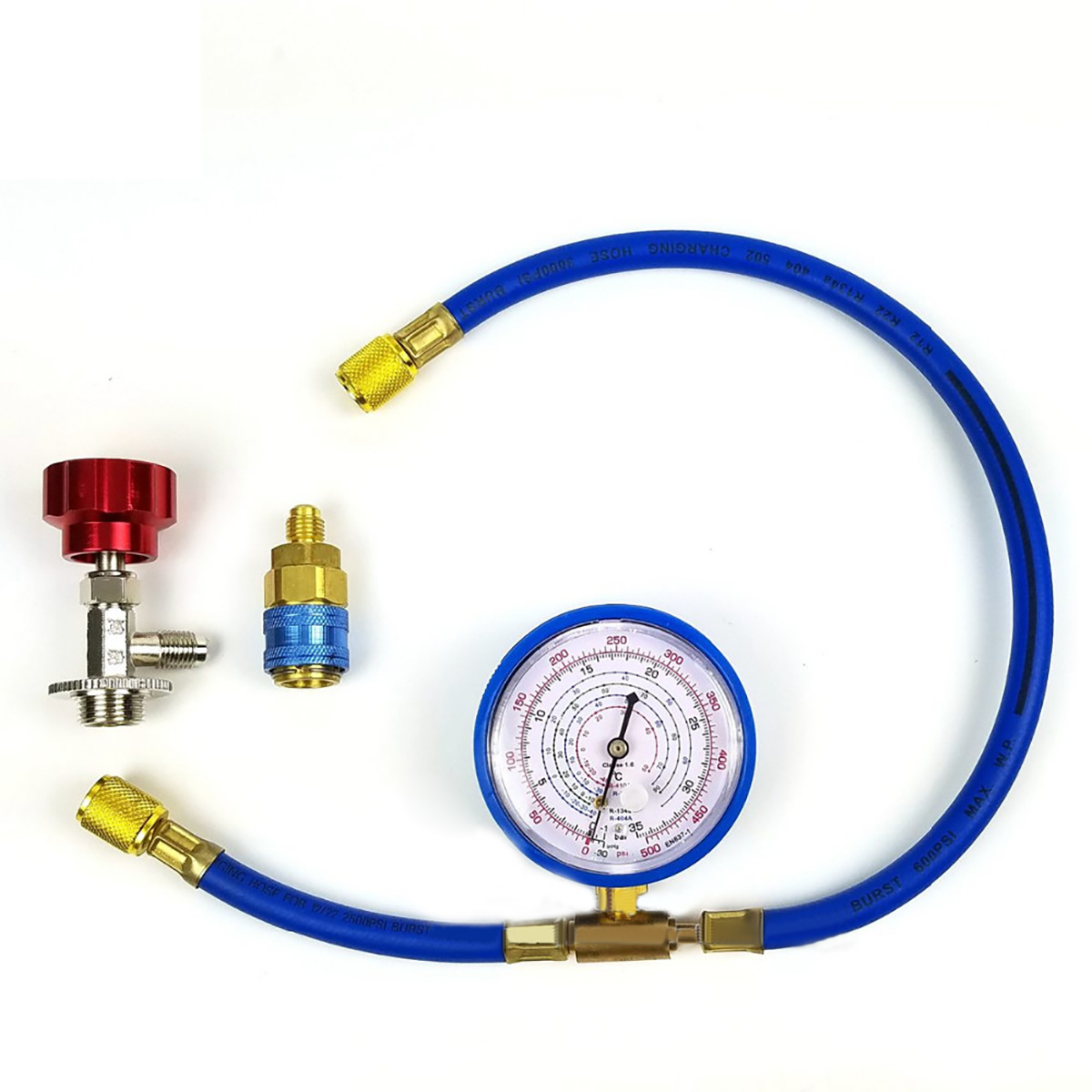 1 Set M14 R134a Air Conditioning Refrigerant Charging Hose With Gauge Recharge Measuring Tool Fit For Most Asian