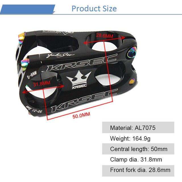 KRSEC 31.8mm aluminium vtt tige vélo 1-1/8