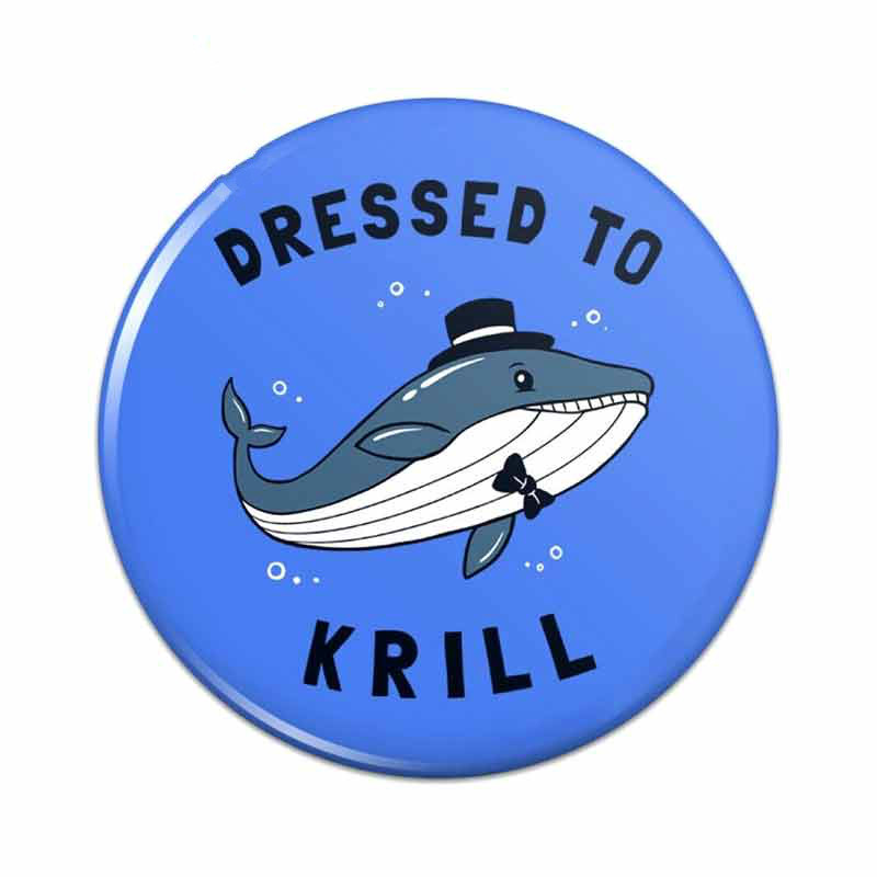 13cm x 13cm for Dressed To Krill Whale Kill Funny Humor Funny Car Stickers Fashion Occlusion Scratch Decals