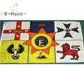 Австралийский Королевский флаг, Размер 2 фута * 3 фута (60*90 см), размер 3 фута * 5 футов (90*150 см), рождественские украшения для дома, флаг, баннер