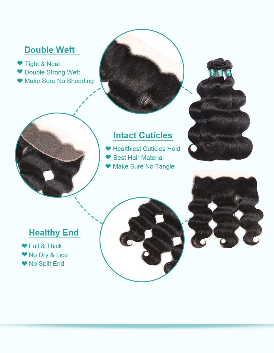 body wave hair weave bundles with frontal-3+13_07
