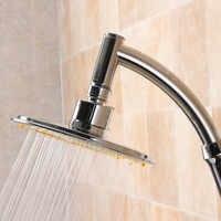 Cabezal de ducha ajustable de 6 pulgadas cabezal de ducha de lluvia anti-caliza boquilla de ahorro de agua cabezal de ducha iónico regadera para ducha 30A29