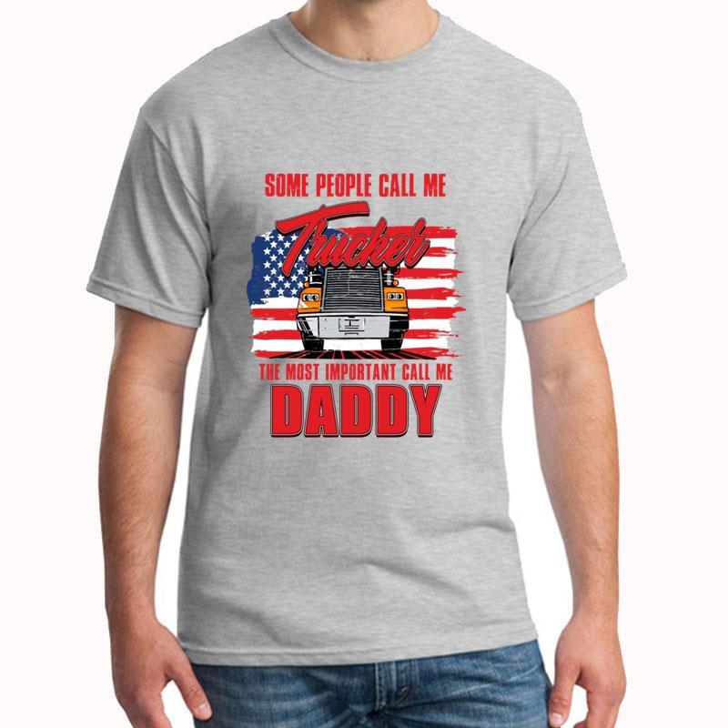 Men's T Shirt Fashion Father S Day Trucker Daddy T Shirt Tee Homme S-3xl Novelty Top Tee T Shinr Men T SHirt Man