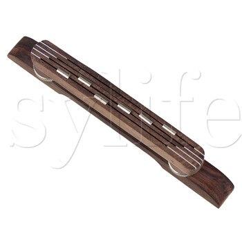 Adjustable Floating Bridge Rosewood for 6 String Archtop Jazz Guitar yibuy chrome guitar bridge roller saddle copper rosewood for archtop jazz guitar