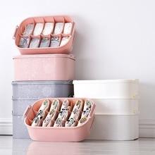 3pcs Drawer Underwear Storage Box Bra Socks Portable Three-storey Superimposed Clothing Organization
