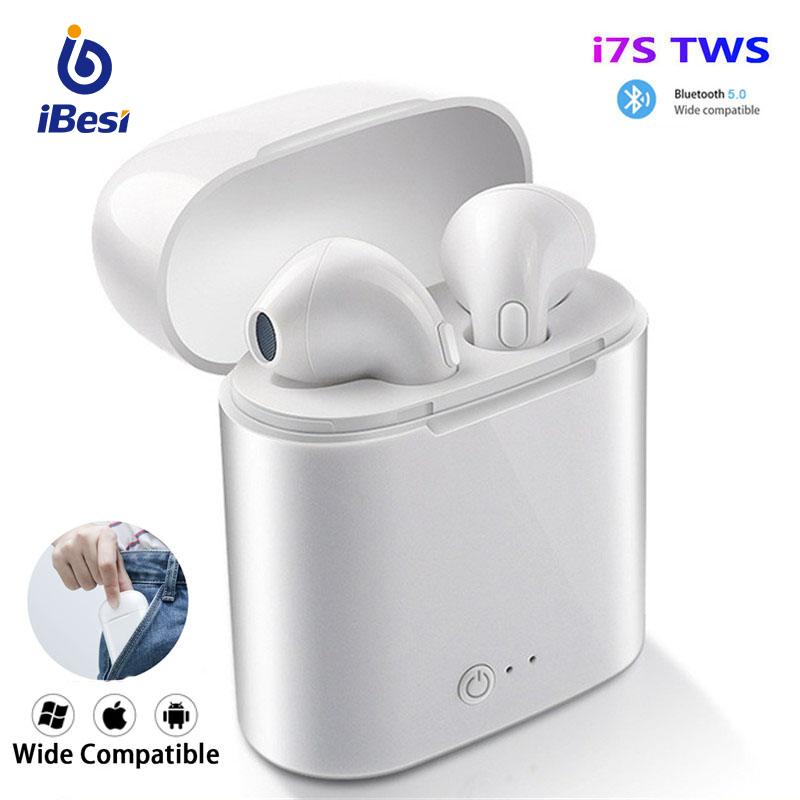 i7s TWS Wireless Bluetooth Earphone Mini Headphones Stereo Bass Earbuds Sport Headset with Charging Box for xiaomi Smart Phone image