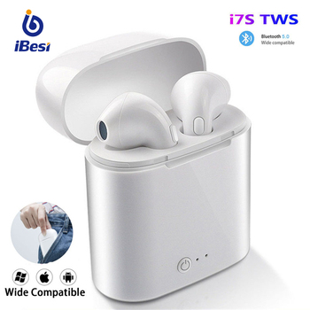 i7s TWS Wireless Bluetooth Earphone Mini Headphones Stereo Bass Earbuds Sport Headset with Charging Box for xiaomi Smart Phone newest bluetooth 5 0 earphone stereo wireless headphones running sport bass headset with mic for iphone xiaomi huawei phone