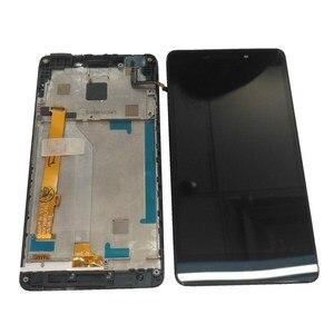 """Image 3 - Orijinal 5.0 """"Lenovo VIBE P1M P1Ma40 P1mc50 LCD ekran + dokunmatik ekran Digitizer meclisi için P1Ma40 P1mc50 LCD çerçeve ile"""