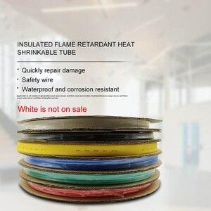 12/14/16mm różne rura termokurczliwa z poliolefinu rury rękaw kablowy termokurczliwy Wrap drutu zestaw izolowane termokurczliwa rurka 100M