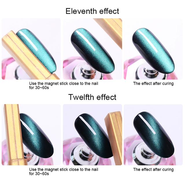 1 Pc Gold Magnetic Stick Multi-function Magnet Stick for Cat Eye UV Gel Polish Nail Art ToolsNail Art ToolsNail Art ToolsNail Ar 2