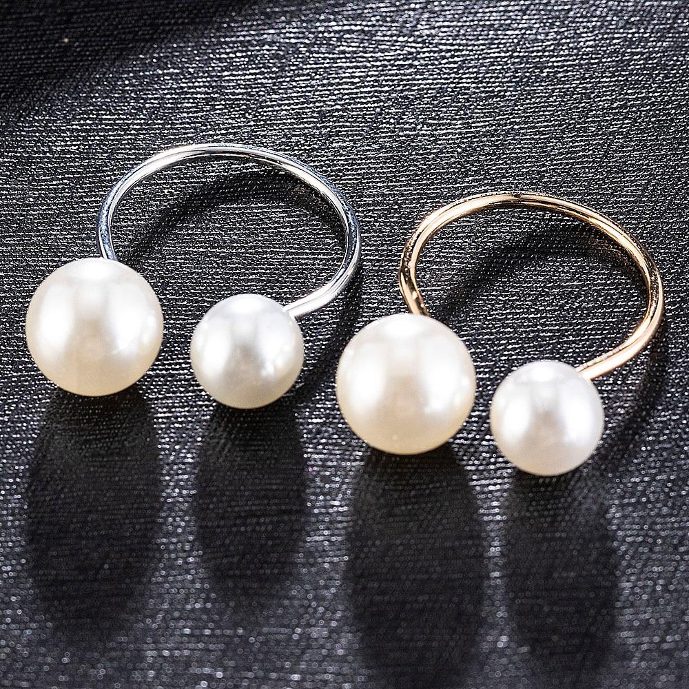 Модное кольцо с жемчугом Китая по оптовым ценам модные отверстие u-образной ФОРМЫ РЕГУЛИРУЕМЫЙ Золотое кольцо для женщин, новые ювелирные и...