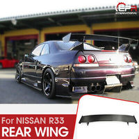 FRP Black or Grey Unpainted Rear GT Spoiler Wing 5pcs For Nissan R33 Skyline GTR Bee Style(only fit to GTR Rear Spoiler Base)