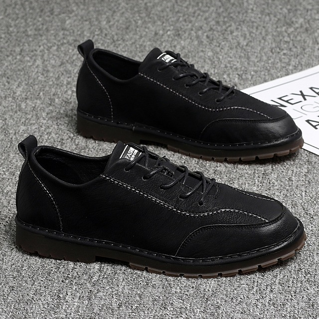 Fashion Hand made Flats Oxfords Loafers Moccasins High Quality Genuine Leather Men Shoes Spring Work Safety Casual Shoes %