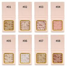 40Pcs Wholesale High-gloss Highlighter Palette Makeup Face Contour 3D Highlight Powder Natural Brighten Cosmetic Private Label