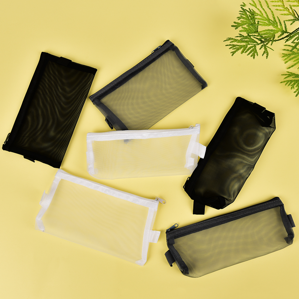 Black,White,Grey,Transparent Pencil Case Lapices Bags School Supplies