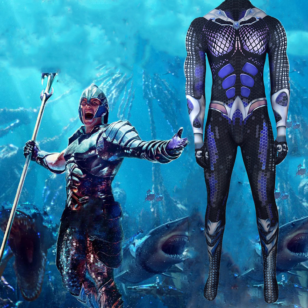 Aquaman Costume Shoes Justice League Cosplay Arthur Curry Jumpsuit Boots Outfit Men Adult Halloween Carnival Costume   Superhero