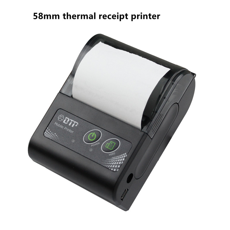 Bluetooth Thermal Printer Mini Portable Wireless bill ticket Android IOS Windows supported mobile 58mm thermal receipt printer