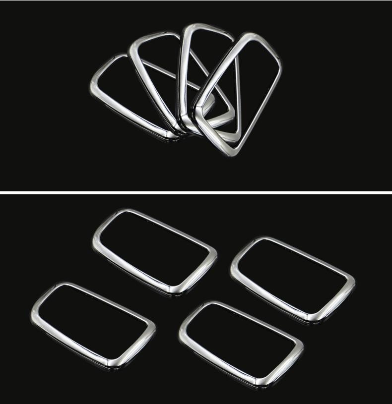 For Mitsubishi ASX ABS Chrome trim handle bowl decoration box ring 4PCS lot for Mitsubishi ASX auto accessorie