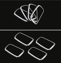 For Mitsubishi ASX ABS Chrome trim handle bowl decoration box ring 4PCS/lot for Mitsubishi ASX auto accessorie наклейка боковая серебристая логотип asx mitsubishi mz314457 для mitsubishi asx 2016