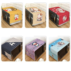 Image 5 - Capa para forno antipoeira, capa de algodão para decoração, com bolsa de armazenamento, pastoral, para cozinha e casa