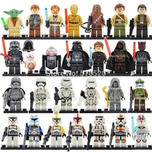 26 шт./лот, Набор фигурок «Звездные войны», йода папло, Асока Тано, Obi-Wan, Дарт Вейдер, строительные блоки, модель, игрушки Legoing