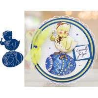 Uova di pollo Animale Metallo Fustelle Stencil per Scrapbooking Goffratura Die Carte di Carta Fare Album Decorativo Nuovo 2019