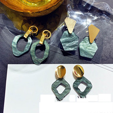 2019 new design fashion jewelry personality round acrylic earrings for girls gift woman