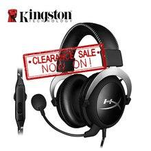 Kingston HyperX auriculares para videojuegos, con núcleo en la nube, auriculares Hi Fi plateados y negros para videojuegos, con micrófono, para ComputerDesktop