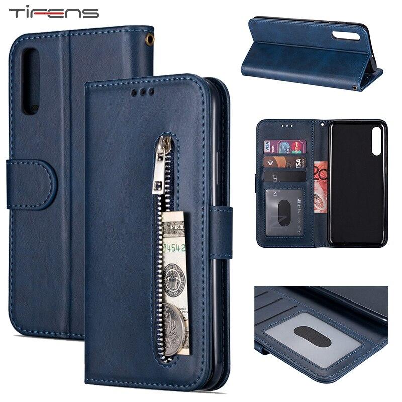 Zipper Case For Samsung A70 A50 A20E A40 A60 A20 A30 A10 S A90 5G M10 M20 M30 M40 A7 A6 Plus J8 2018 A5 2017 Flip Leather Cover