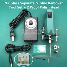 Lijm Remover Cleanng Hoofd Met 2 In 1 9 + Glas Separator Tool Glas Touch Sceen Polijsten Reparatie Geen Pijn lcd Touch Aparte Set