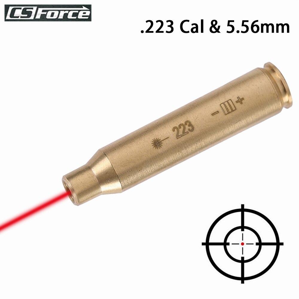 Патрон для охотничьего ружья с красной точкой, диаметр отверстия 223, калибр 223 и 5,56 мм, латунный лазерный бокс без батарей