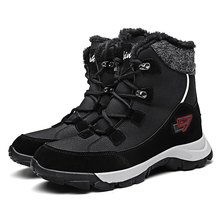 Snow-Boots White Walking-Shoes Non-Slip Plush Black Winter Unisex Women Ankle for Warm