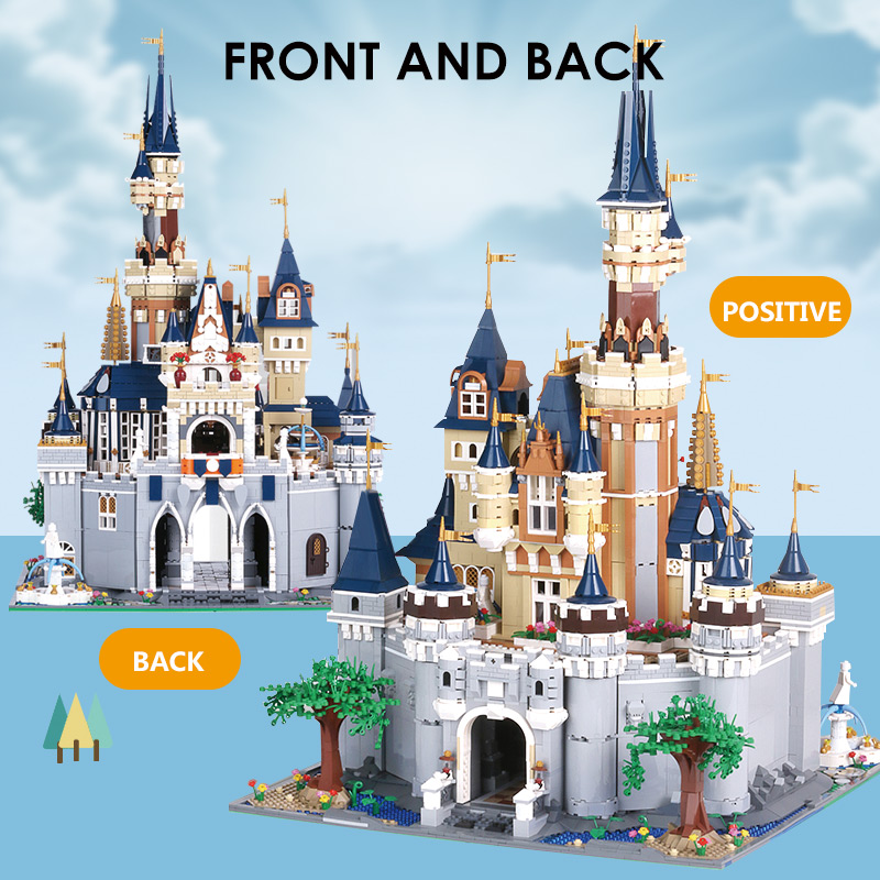 16008 16060 Movie Toys The 71043 Magic Castle and 71040 Upgrade Version Cinderella Princess Castle Kids Toys Building Blocks Kit