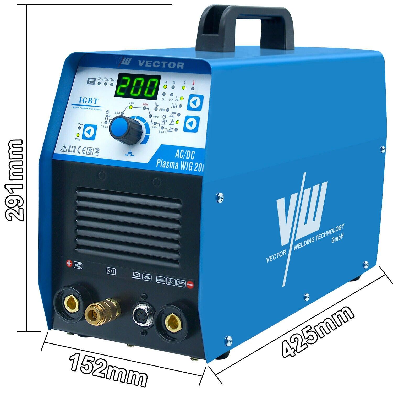 50a Welding  DC Machine PLASMA MMA Welder Plasma Cutter AC Cut AC 200a WIG TIG Machine Aluminum  HF DC Inverter