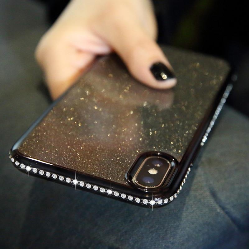 Shiny Bling Diamond Glitter Phone Protective Shell Back Cover for Samsung Models 1
