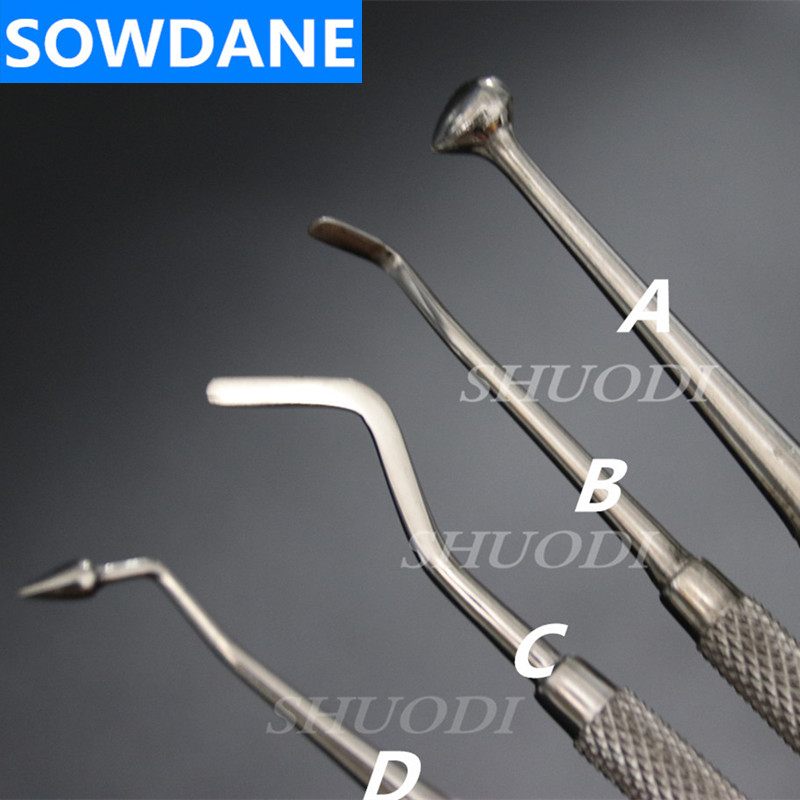 Dental Stainless Steel Composite Filling Instrument Spatula Amalgam Plastic Double Ends Lab Laboratory Tool